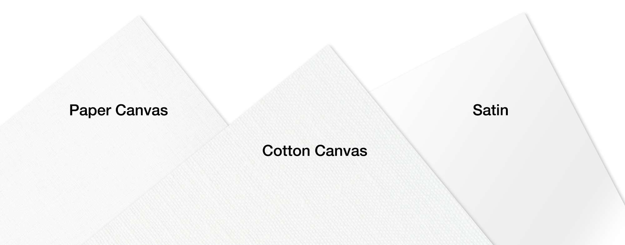 Flat Prints Media Options - Paper Canvas, Cotton Canvas, Satin