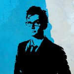 10th Doctor David Tennant Doctor Who Poster Illustration Whovian Print Dr Who Geek Art - Large Giclee on Cotton Canvas and Satin Photo