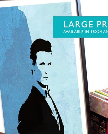 11th Doctor Matt Smith Doctor Who Poster Illustration Whovian Print Dr Who Geek Art - Large Giclee on Cotton Canvas and Satin Photo Paper