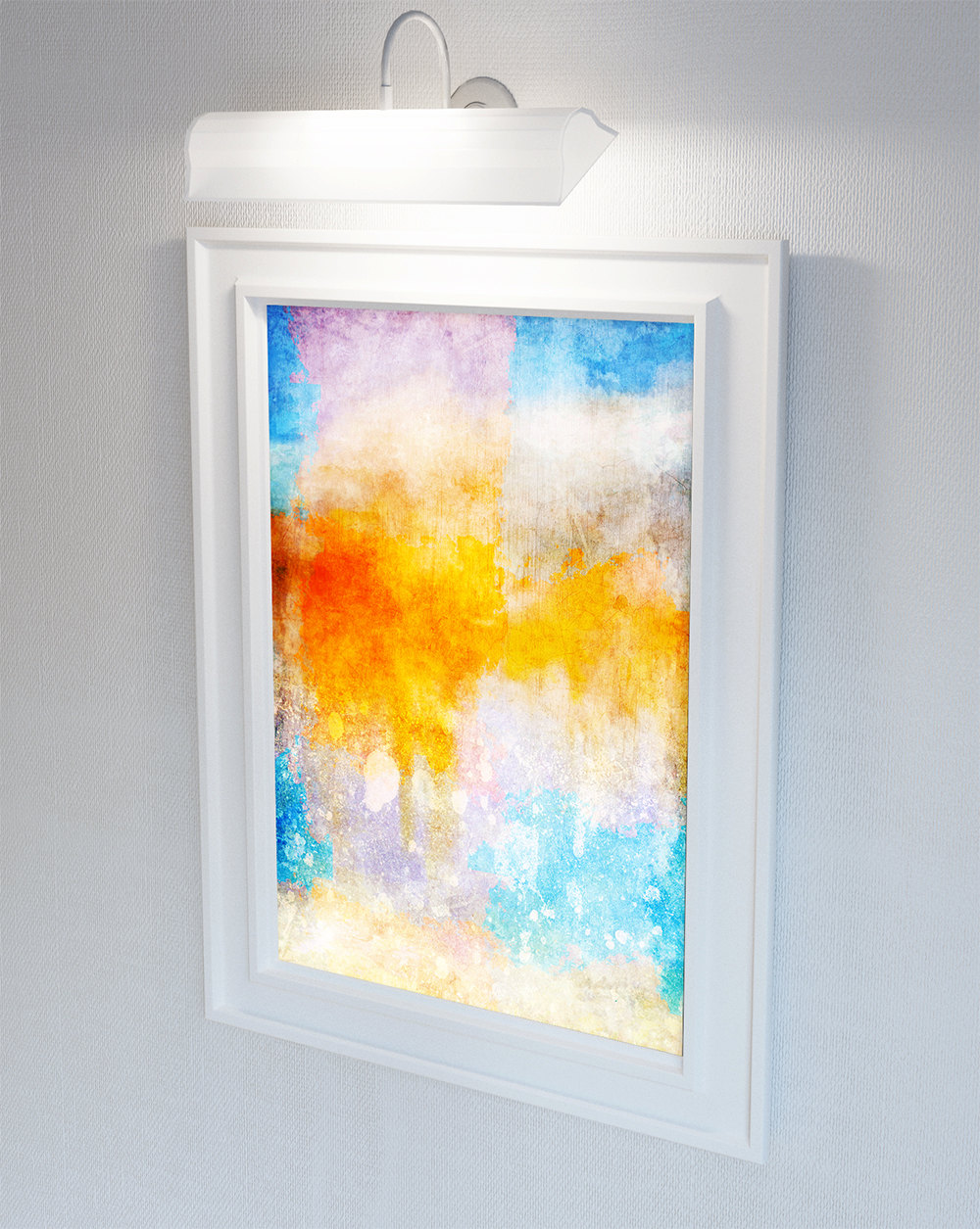 Abstract Art Print Abstract Clouds Decor Giclee Print on Cotton ...