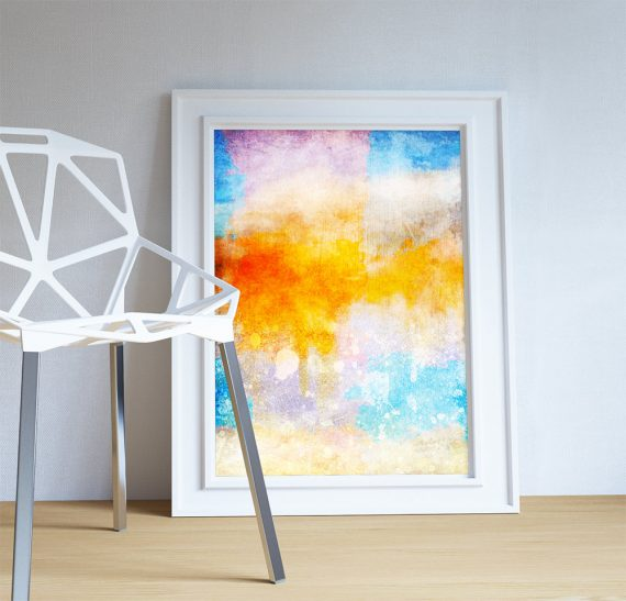 Abstract Art Print Abstract Clouds Decor Modern Art Giclee Print on Cotton Canvas and Satin Photo Paper Poster Home Wall Art