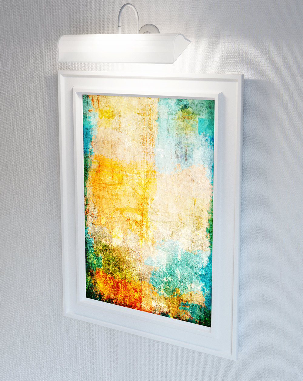 Abstract Art Print Abstract Corrosion Decor Giclee Print on Cotton ...