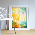 Abstract Art Print Abstract Corrosion Decor Modern Art Giclee Print on Cotton Canvas and Satin Photo Paper Poster Home Wall Art