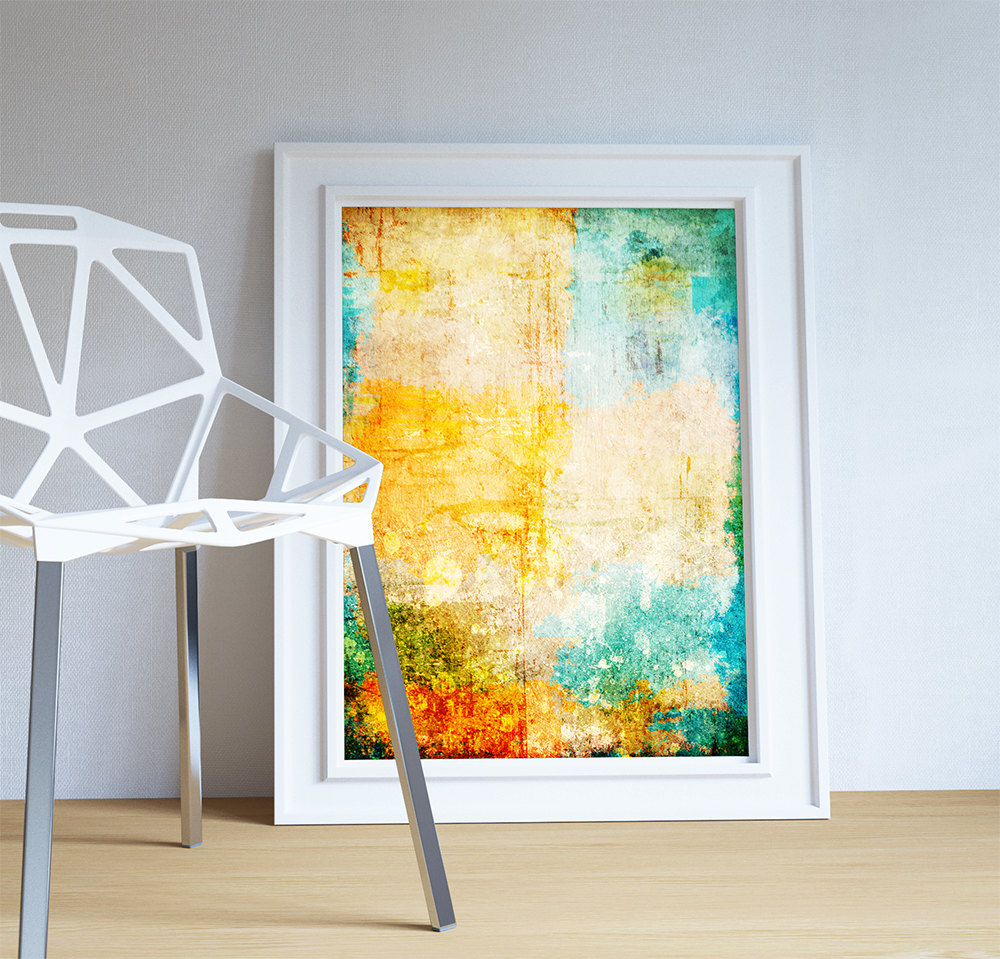 Abstract Art Print Abstract Corrosion Decor Modern Art Giclee Print ...