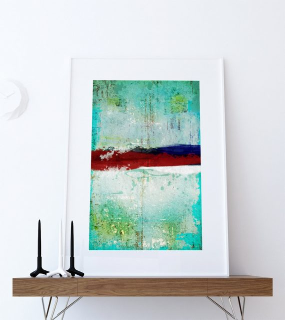 Abstract Art Print Abstract Decor Giclee Print on Cotton Canvas and Paper Canvas Poster Home Wall Art