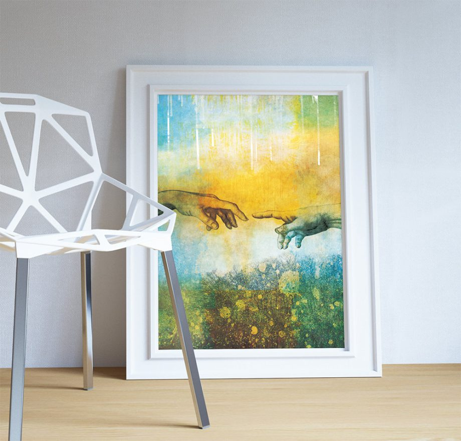 Abstract Art Print Abstract Touch Decor Giclee Print on Cotton Canvas and Paper Canvas Poster Home Wall Art