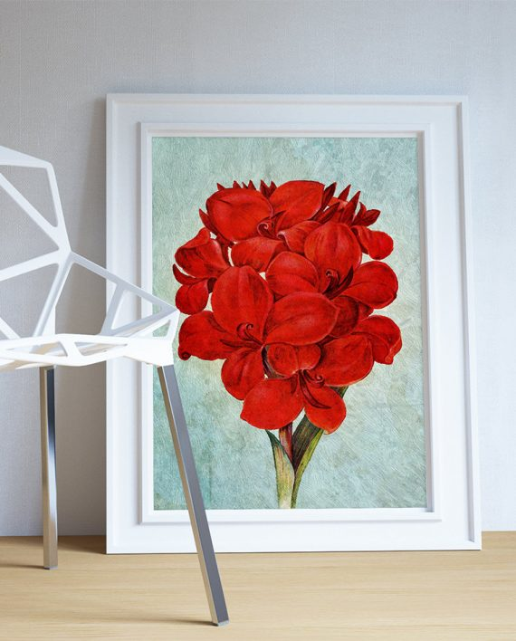 Amaryllis decor amaryllis art amaryllis gift botanical for Amaryllis deco
