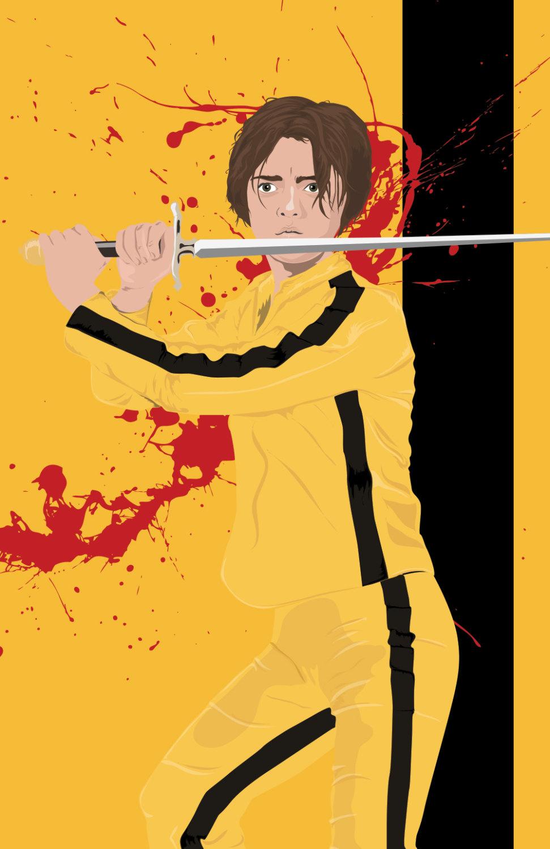 Arya Stark as the Bride Mashup Poster Game of Thrones Kill Bill ...