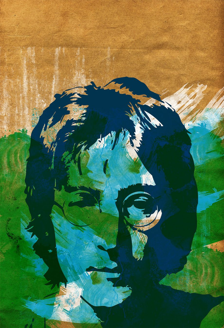 Beatles John Lennon Band Poster - Large Giclee Wall Decor on Cotton Canvas and Satin Photo Paper