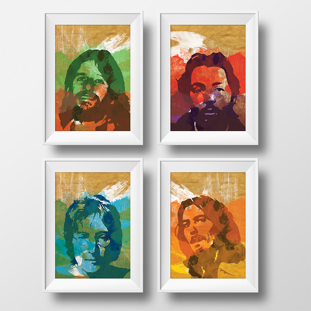 Lennon artwork John Lennon Art Print Beatles Canvas Pop Art Poster