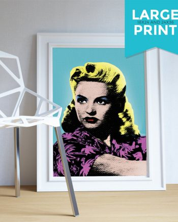 Betty Grable Pop Art print retro Illustration Art Large Poster Print Giclee on Satin and Cotton Canvas Wall Decor