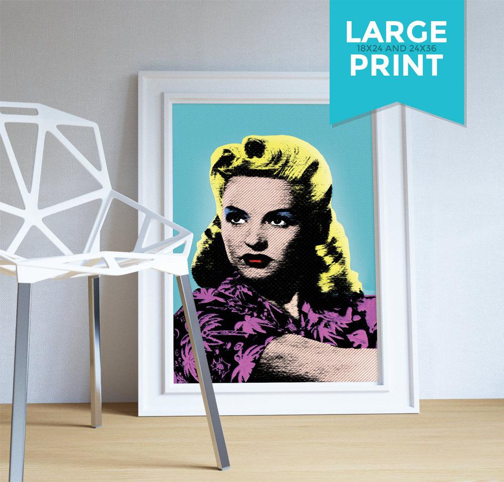 Betty grable pop art print retro illustration art