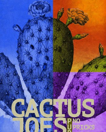 Cactus Print Pub Print Wall Art Vintage Ad Print - Giclee Print on Cotton Canvas and Paper Canvas