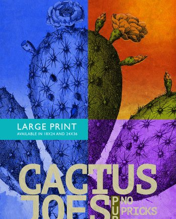 Cactus Print Pub Print Wall Art Vintage Ad Print - Giclee Print on Cotton Canvas and Satin Photo Paper