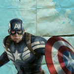 Captain America Poster Avengers Superhero Illustration Marvel Comics Giclee Print on Cotton Canvas or Paper Canvas