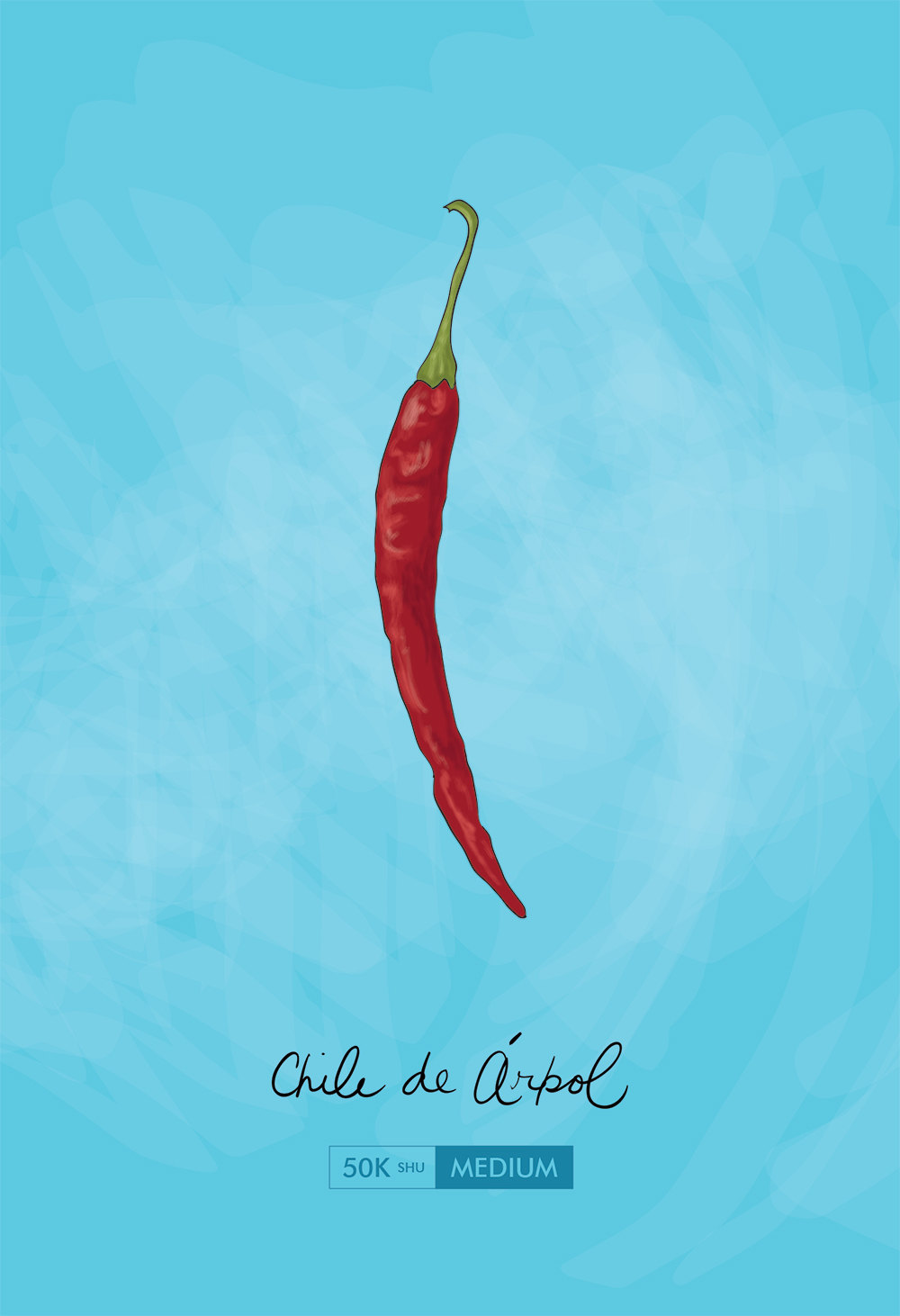 Chile De Arbol Kitchen Art Chili Pepper Print