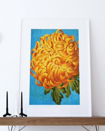 Chrysanthemum decor Chrysanthemum art Chrysanthemum gift botanical print flower kitchen decor floral print floral wall decor wall art Canvas