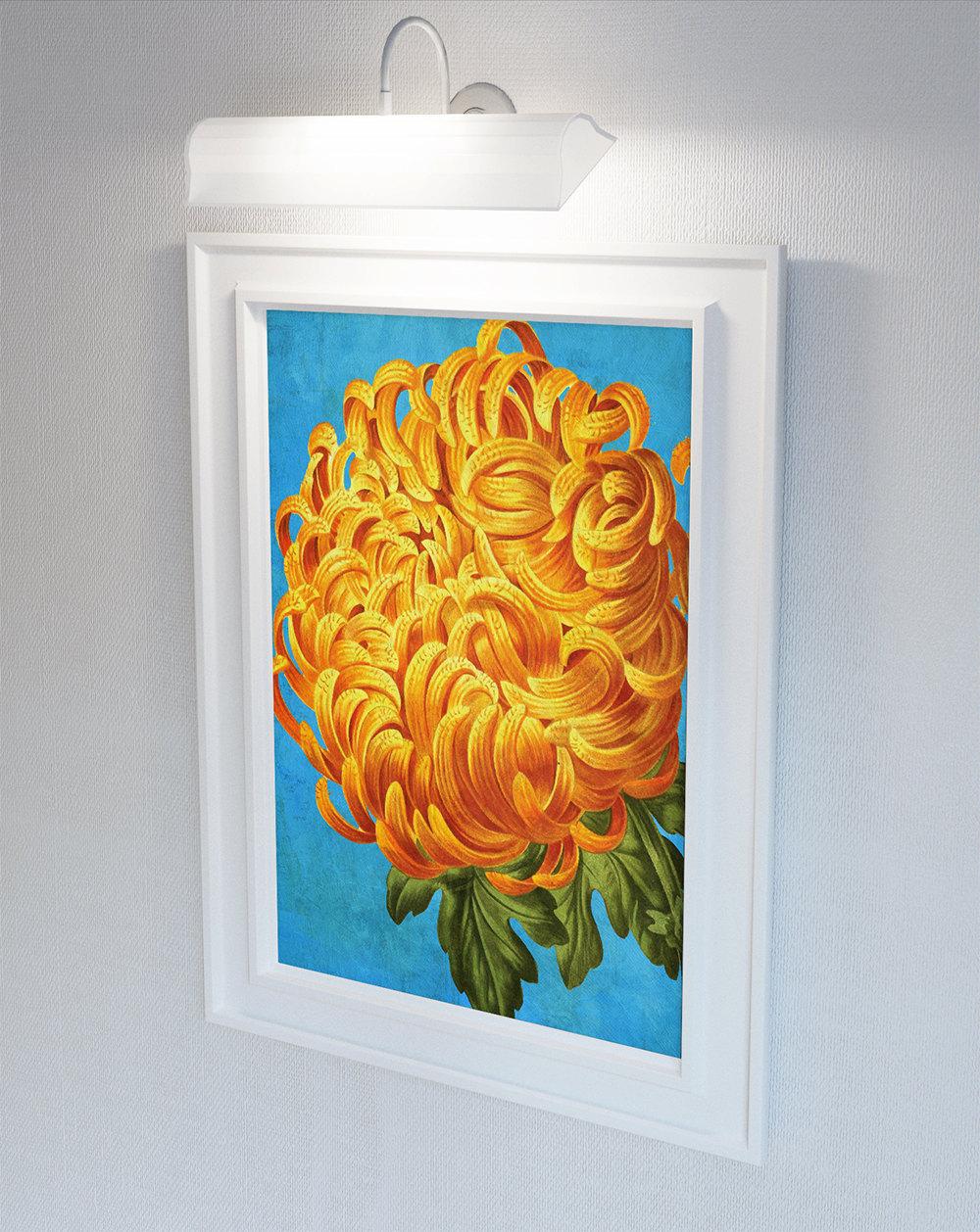 Chrysanthemum Decor Chrysanthemum Art Chrysanthemum Gift Botanical Print
