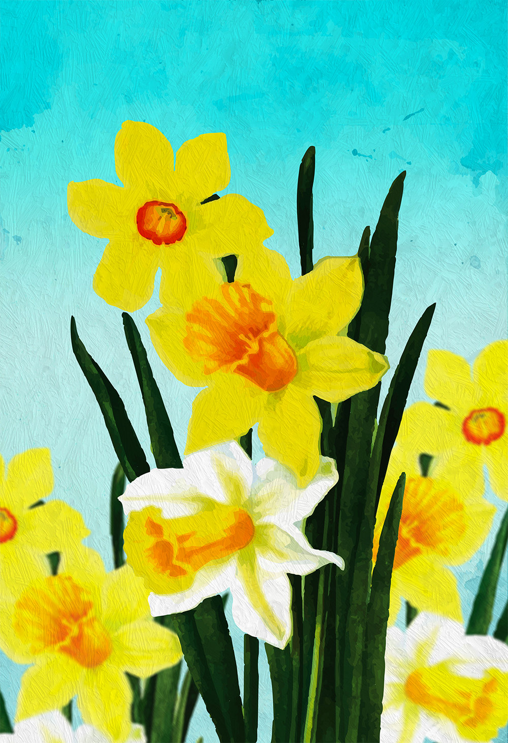 Daffodil decor Daffodil art Daffodil gift botanical print flower ...