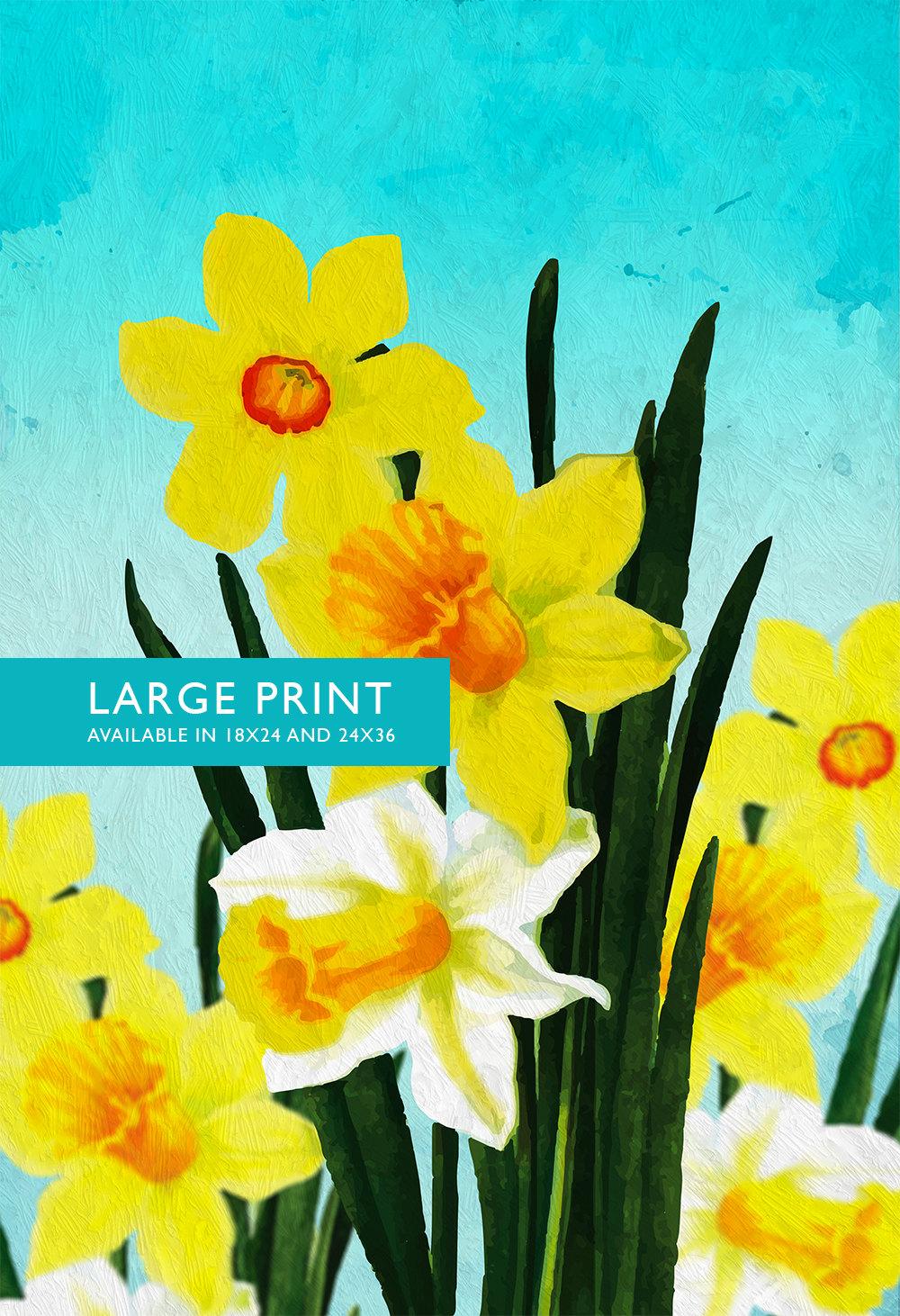 Daffodil Print Daffodil art Daffodil botanical print flower kitchen ...