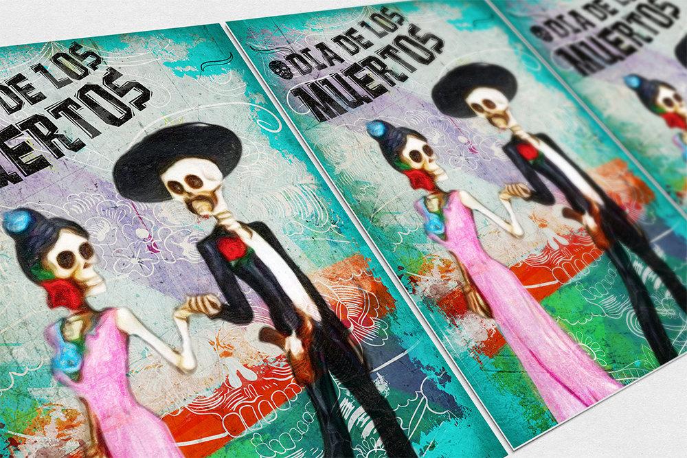Dia De Los Muertos Mexican La Catrina El Catrin Illustration Art ...