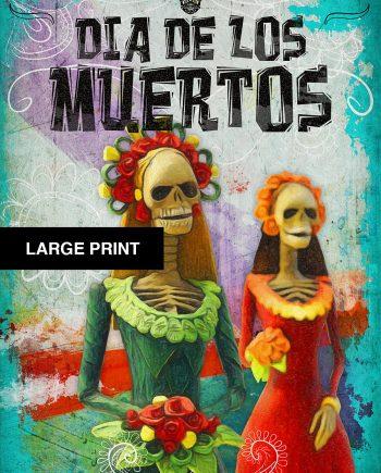 Dia De Los Muertos Mexican Retro Catrina Illustration Art Print Vintage Giclee on Cotton Canvas and Satin Photo Paper