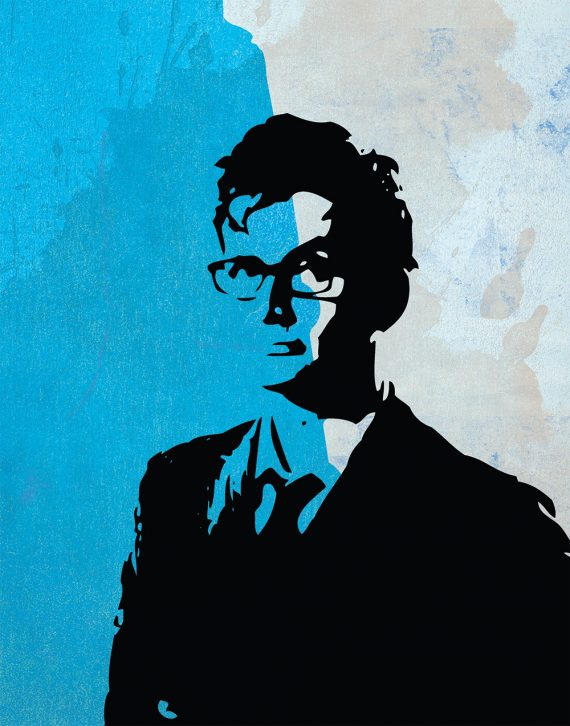 Doctor Who 10th Doctor David Tennant  Sticker Print Large