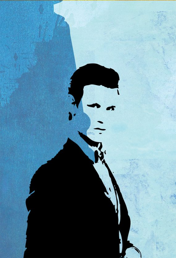 Doctor Who 11th Doctor Matt Smith Poster Illustration Whovian Print Giclee on Cotton Canvas or Paper Canvas