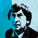 Doctor Who 2nd Doctor Patrick Troughton Illustration Large Poster Print Giclee on Satin or Cotton Canvas Sci Fi Pop Art Poster Vintage