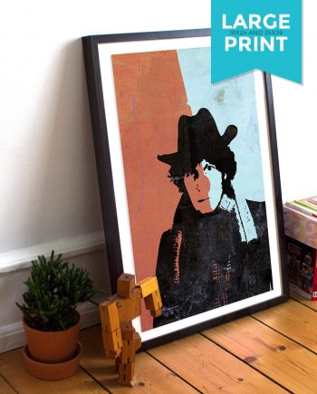 Doctor Who 4th Doctor Tom Baker Large Poster Time Lord Illustration Whovian Print Giclee on Satin or Cotton Canvas Geekery Art Retro Dr Who