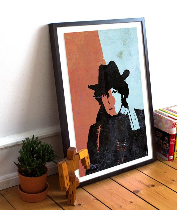 Doctor Who 4th Doctor Tom Baker Poster Time Lord Illustration Whovian Print Giclee on Cotton Canvas Paper Canvas Geekery Art Retro Dr Who