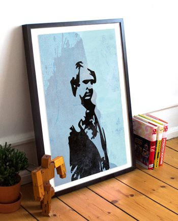 Doctor Who 5th Doctor Peter Davison Illustration Sci Fi Print Giclee on Cotton Canvas and Paper Canvas Geekery Whovian Retro Dr Who