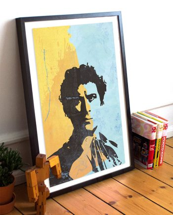Doctor Who 6th Doctor Colin Baker Illustration Geekery Print Giclee on Cotton Canvas Paper Canvas Sci Fi Whovian Poster
