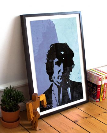 Doctor Who 8th Doctor Paul McGann Poster Sci Fi Illustration Whovian Print Giclee on Cotton Canvas and Paper Canvas Time Lord Geekery