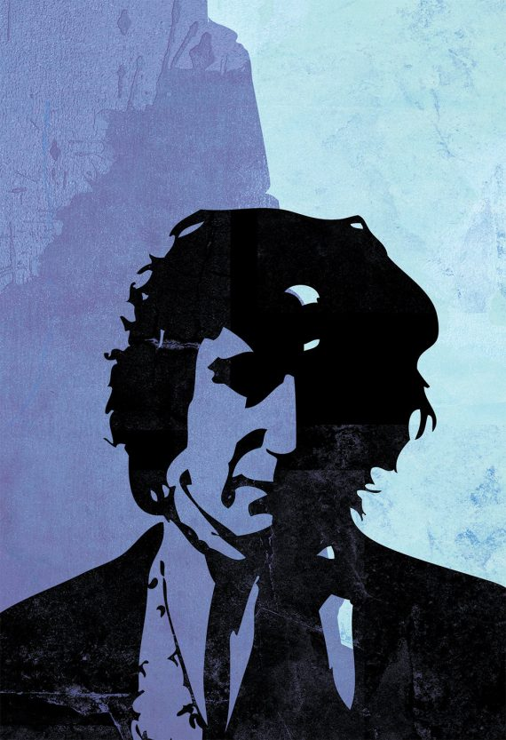 Doctor Who 8th Doctor Paul McGann Sci Fi Illustration Whovian Large Poster Print Giclee on Satin or Cotton Canvas Time Lord Geekery