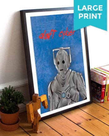 Doctor Who Cyberman Daft Punk Mashup Music Large Poster Illustration Giclee Print on Satin or Cotton Canvas Geekery Pop Art Sci Fi Whovian