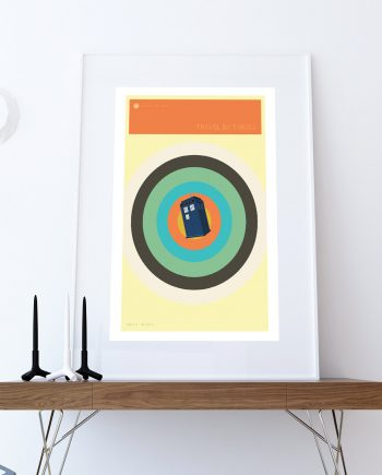 Doctor Who TARDIS Minimalist Print Giclee on Cotton Canvas and Paper Canvas Whovian Geekery Art Poster