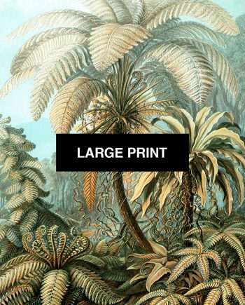 Ernst Haeckel Filicinae Print Tropical Art Vintage Decor Ocean Wall Art - Giclee Print on Canvas & Satin