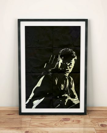 Hawkeye Avengers Poster Marvel Comics Superhero Movie Illustration Giclee Print on Cotton Canvas and Paper Canvas Wall Art Black Widow