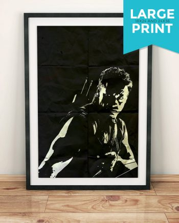 Hawkeye Avengers Poster Marvel Comics Superhero Movie Illustration GicleeLarge Poster Print on Satin or Cotton Canvas Wall Art Black Widow