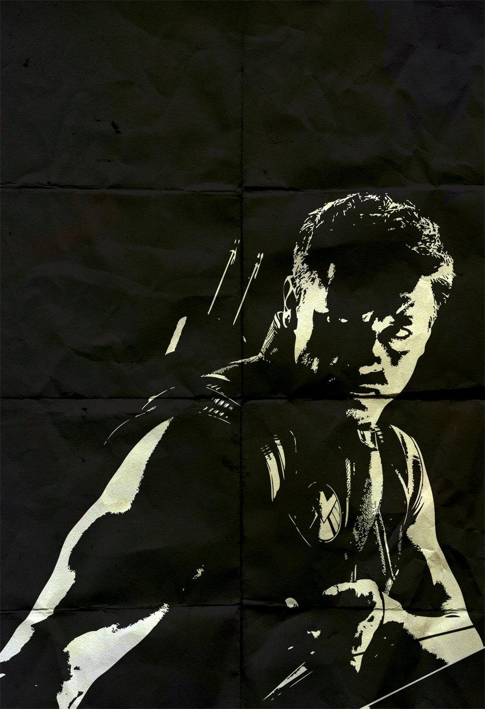 Hawkeye avengers poster marvel comics superhero movie illustration
