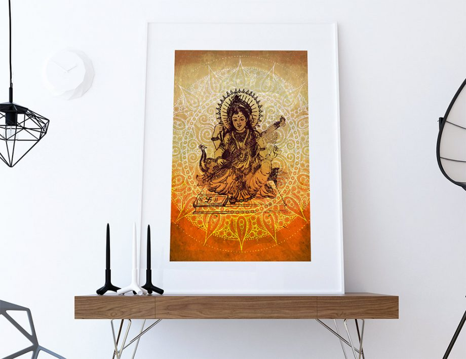 hindu-godess-saraswati-print-vintage-hindu-decor-wall-art-giclee-print-18×24-24×36-large-giclee-print-on-cotton-canvas-and-satin-paper-5817aa033.jpg