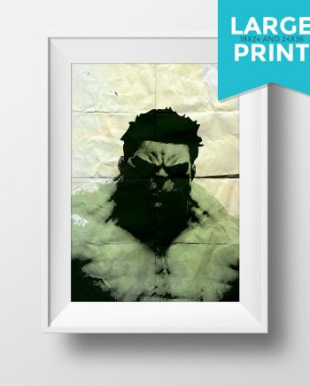 Incredible Hulk Avengers Poster Illustration Marvel Comics Giclee Large Poster Print on Satin or Cotton Canvas Superhero Wall Art
