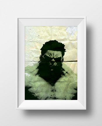 Incredible Hulk Avengers Poster Illustration Marvel Comics Giclee Print on Cotton Canvas and Paper Canvas Superhero Wall Art