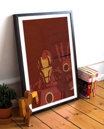 Iron Man Avengers Poster Illustration Marvel Comics Tony Stark Giclee Print on Cotton Canvas and Paper Canvas Superhero