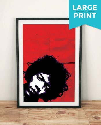 Jimi Hendrix Poster Retro Illustration Art Print Large Rock Poster Vintage Giclee on Satin or Cotton Canvas Wall Decor