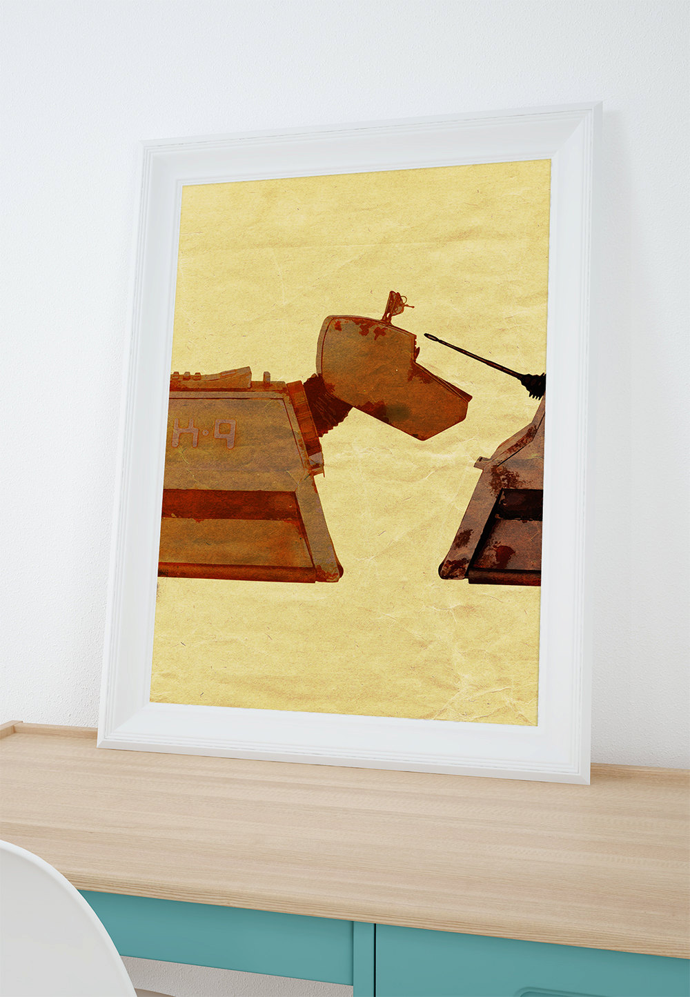 K9 Doctor Who Illustration Dog Print Funny Giclee on Cotton Canvas ...