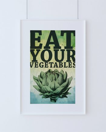 Kitchen Print Kitchen Decor Artichoke Art Rustic Farmhouse Giclee Print on Cotton Canvas and Paper Canvas Poster Home Wall Art