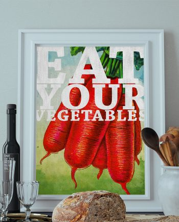 Kitchen Print Kitchen Decor Carrots Art Rustic Farmhouse Giclee Print on Cotton Canvas and Paper Canvas Poster Home Wall Art