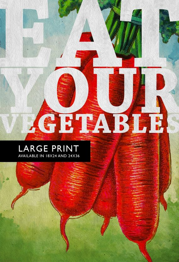 Kitchen Print Kitchen Decor Carrots Vegetable Art Rustic Farmhouse Giclee Print Poster Home Wall Art on Cotton Canvas and Satin Photo Paper